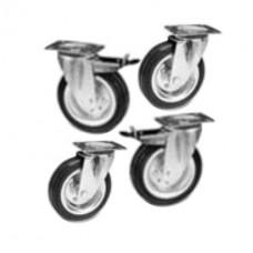 Комплект колес (2 - с тормозом) d 100мм - комплектующие для кроватей