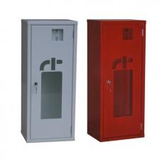 Шкаф для хранения огнетушителя , дверь со стеклом ШП-О-01НСБ/НСК